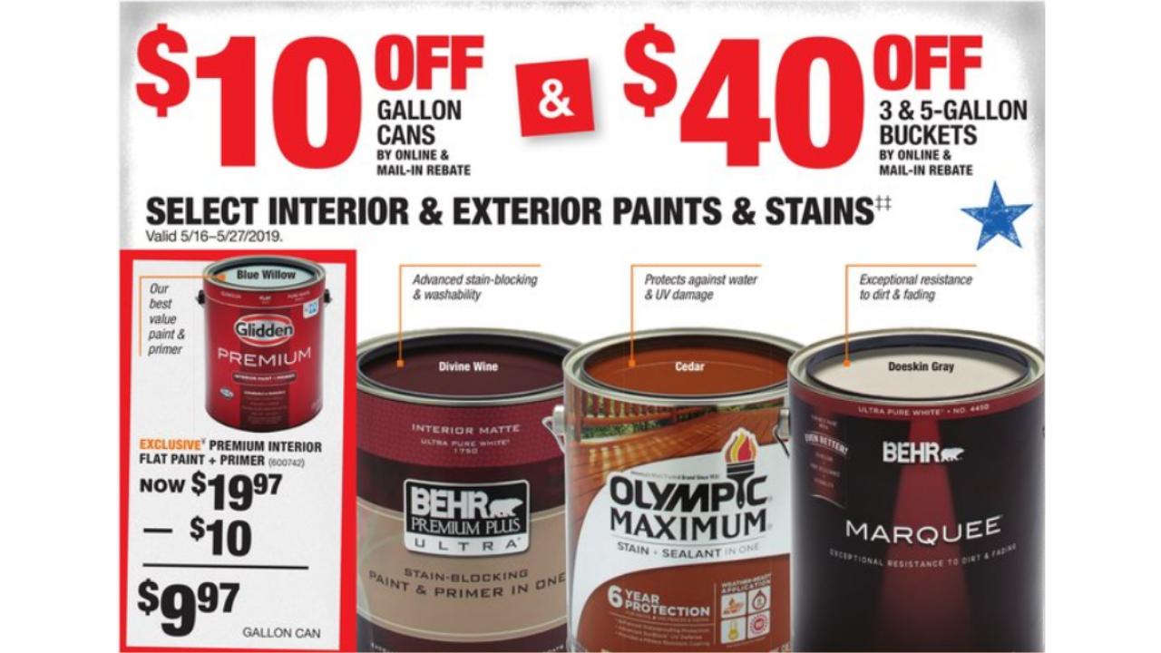 Home depot paint rebate