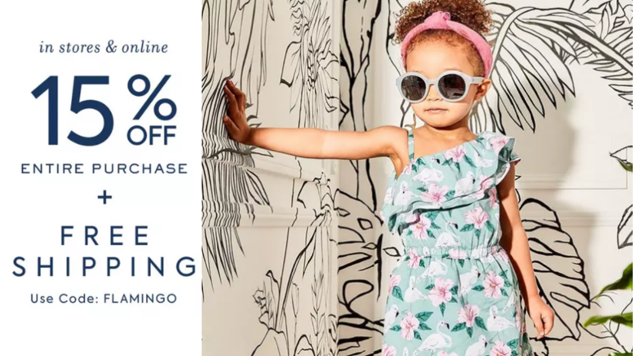 6ae465ab03f2 Through 5/14, get an extra 15% off your entire purchase, plus Free Shipping  from Janie and Jack when you use code FLAMINGO at checkout!