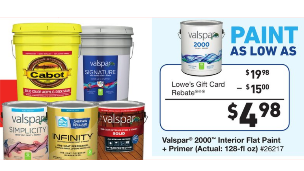 valspar paint coupon 2019