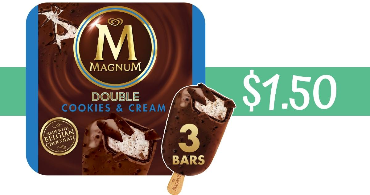 graphic about Ice Cream Coupons Printable titled Magnum Ice Product Coupon Will make Bars $1.50 :: Southern Savers