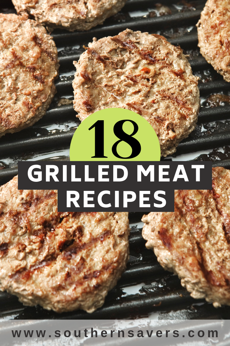 Take advantage of grilling season by cooking outside! These 18 grilled meat recipes will give you plenty of variety in your cooking this summer!