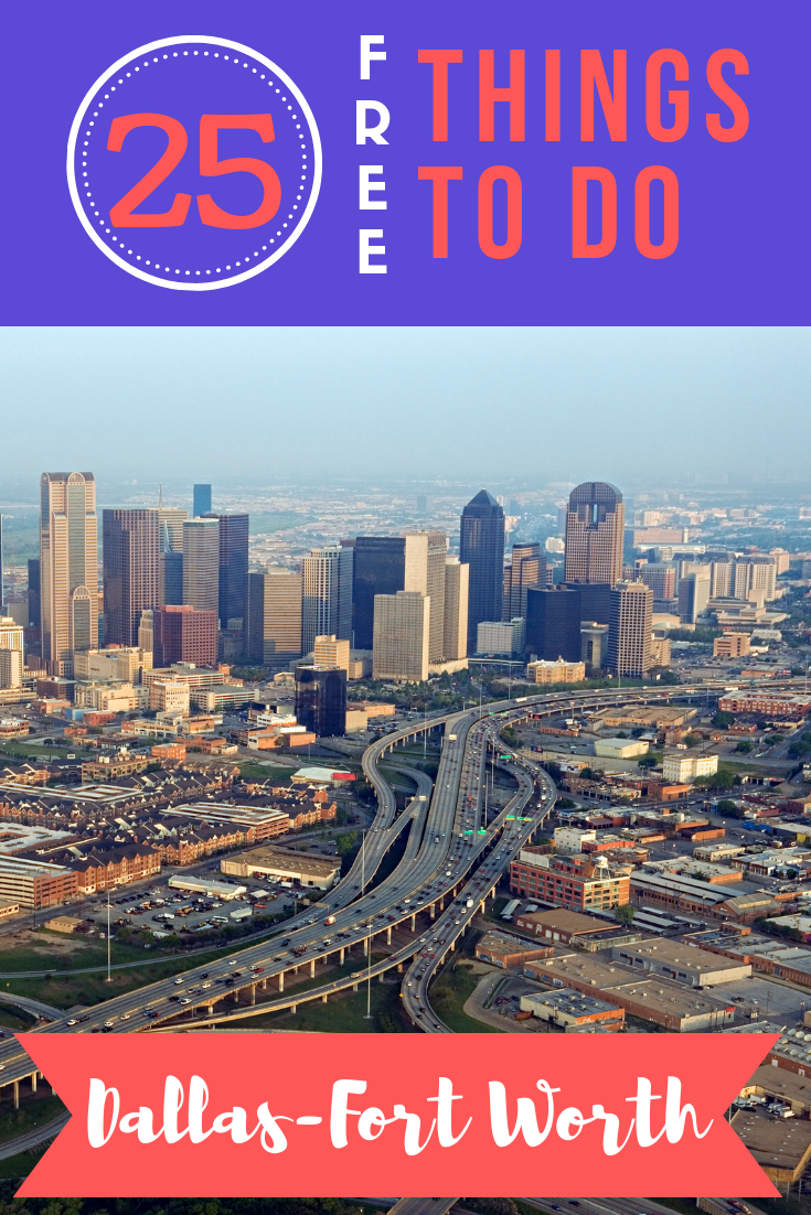 Everything's bigger in Texas—I had to edit my research down to a list of only 25 free things to do in Dallas Fort Worth so you can enjoy your trip frugally!