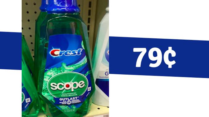 Scope Mouthwash for 79¢ at CVS