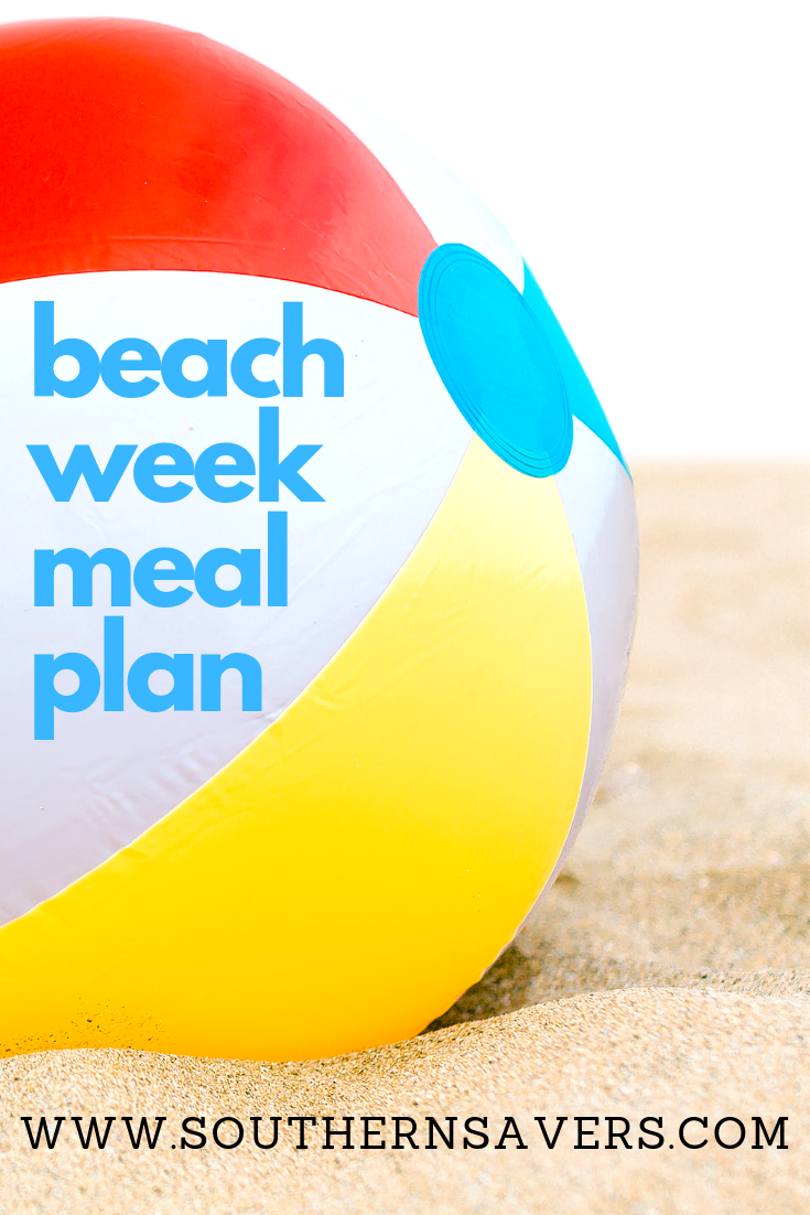 Heading to the beach this summer? Use our beach week meal plan to save time in planning and keep your vacation meals simple, frugal, and convenient.