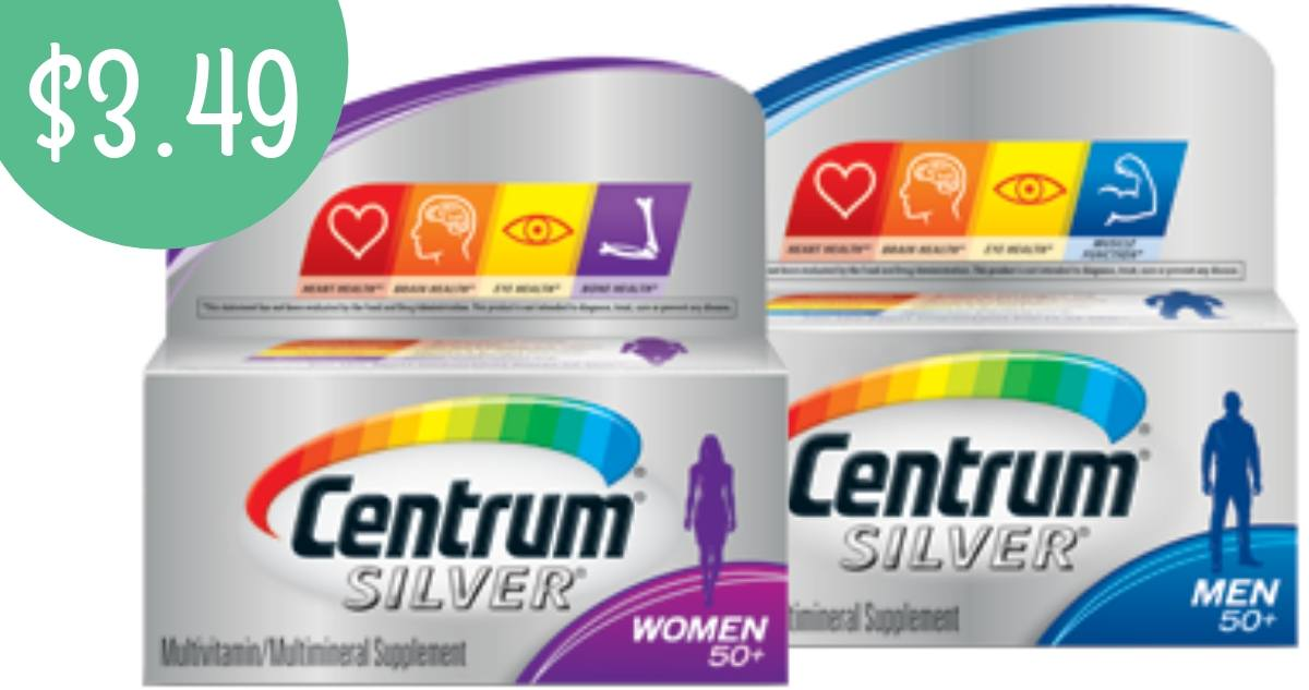 graphic about Centrum Coupon Printable referred to as Centrum Coupon Produces Silver Multivitamins $3.49