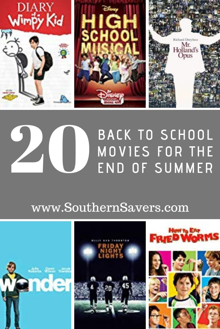 Commemorate the end of summer by sitting down together for a family movie night with one of these 20 back to school movies!