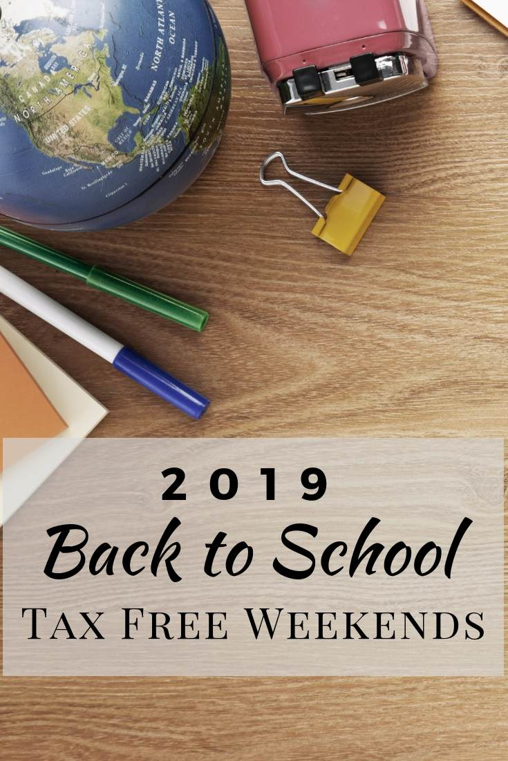 Go ahead and mark your calendars for your states Back to School Tax Free Weekend for 2019!  This is an easy extra savings on all the back to school supplies you need.