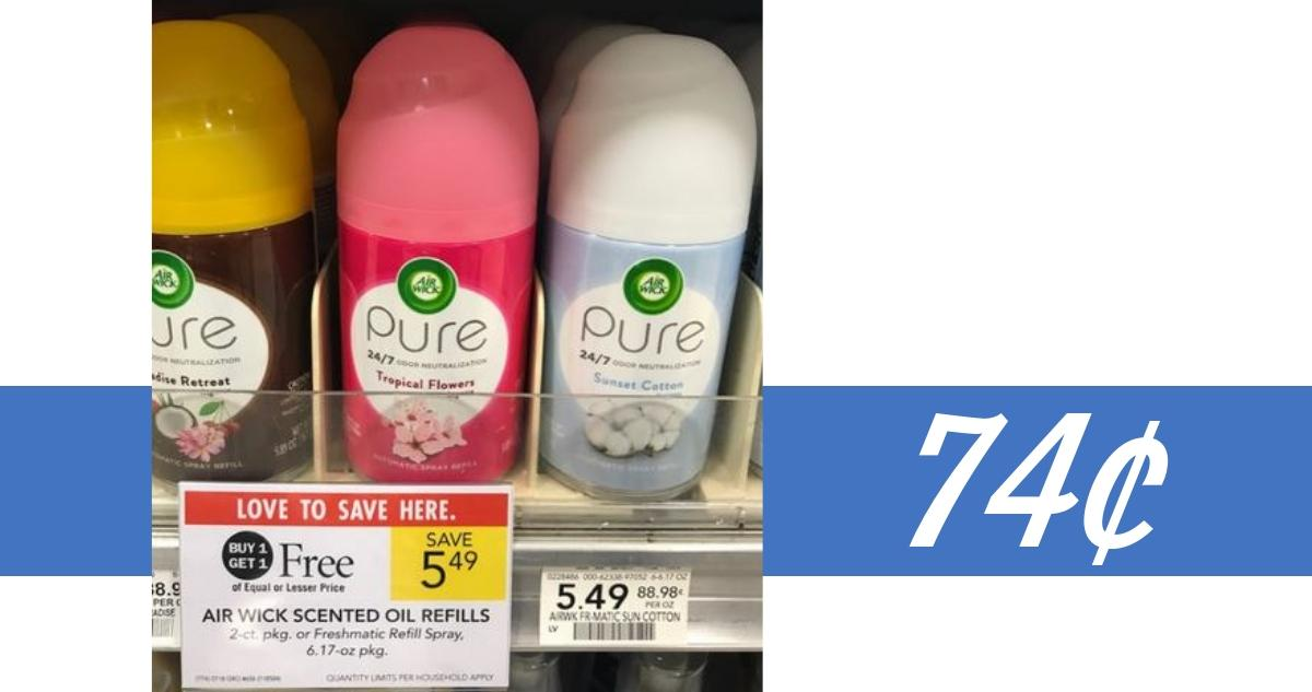 image regarding Airwick Printable Coupons known as Air Wick Freshmatic Refill Spray for 74¢ :: Southern Savers
