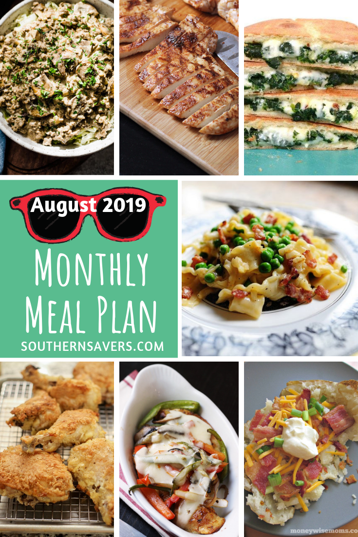 Summer is drawing to a close, which means your life is probably changing rhythms. Our August monthly meal plan will help you finish the summer strong!