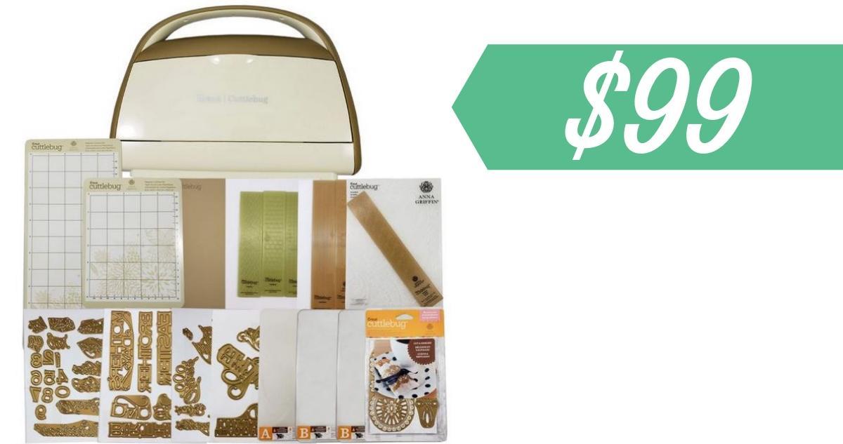 Cricut Deal | Cuttlebug Bundle for $99 (reg  $207 96