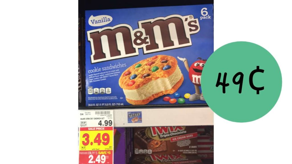 M M S Ice Cream Bars Only 49 At Kroger Southern Savers