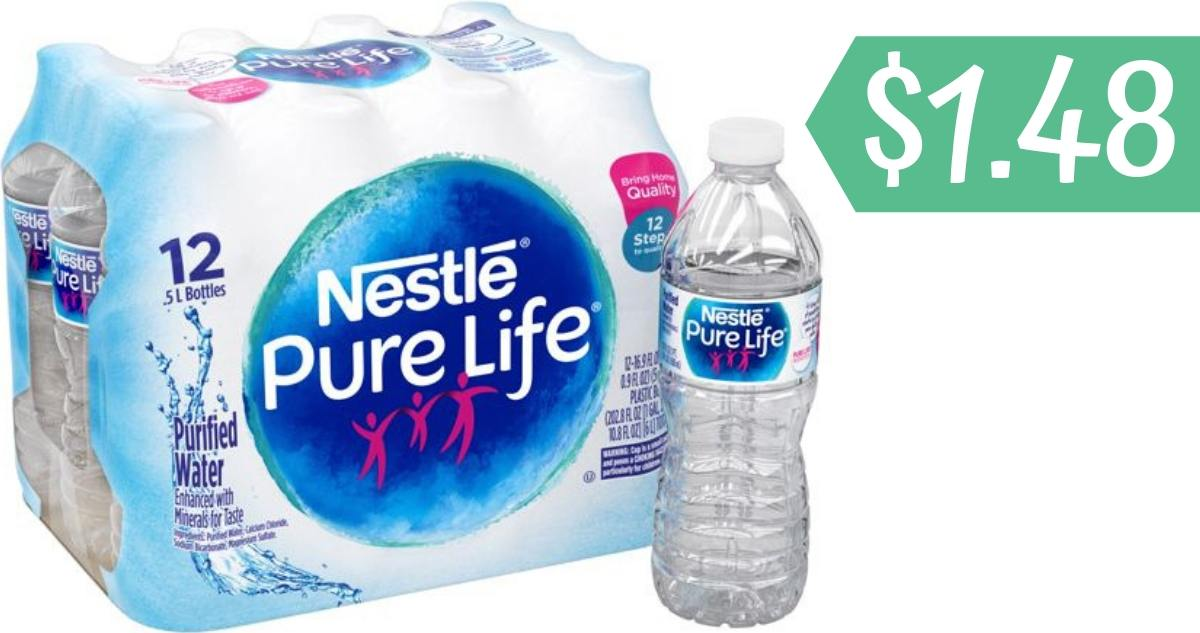 Nestle Pure Life Water Coupon | Makes 12-Pack $1 48