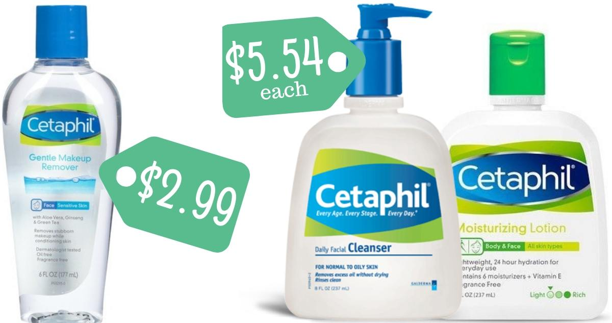 photograph about Cetaphil Coupon Printable named Cetaphil Coupon Produces Make-up Remover $2.99 :: Southern Savers