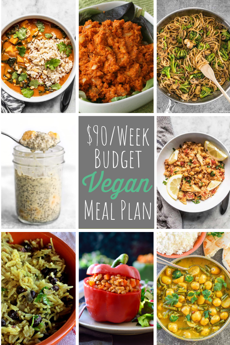 If you're looking for a way to eat a vegan diet without breaking the bank, check out our $90/week budget vegan meal plan with printables!