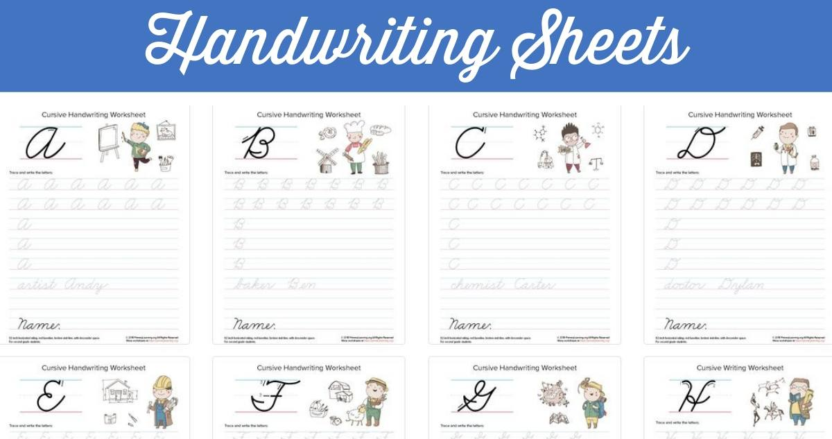 Free Printable Cursive Handwriting Sheets! :: Southern Savers