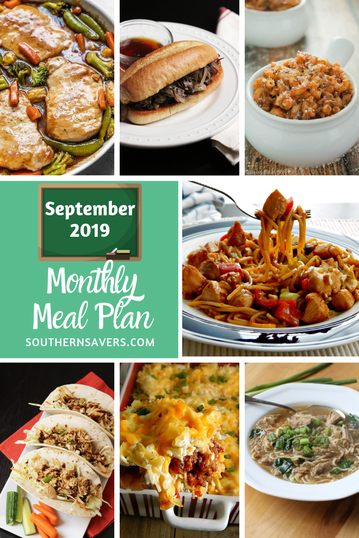 Fall is coming, and that means yummy comfort foods! This monthly meal plan for September gives you a framework for planning easy and simple dinners!