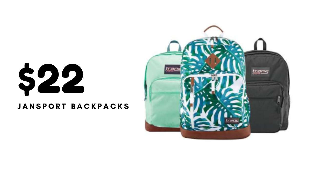 Trans by Jansport Backpacks $22 40 (reg  $45) | Today Only