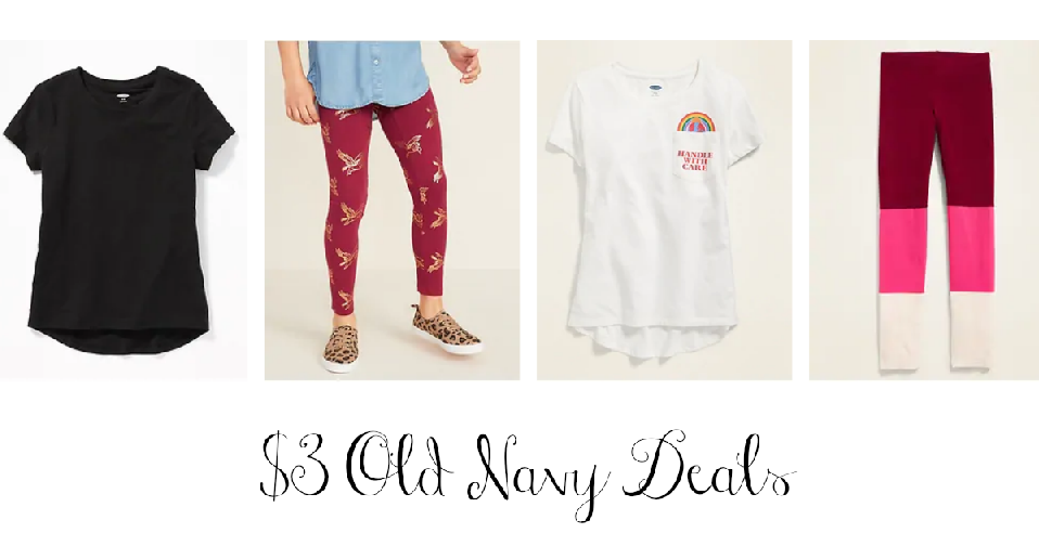 Old Navy Sale | $3 Tees, Tanks & Leggings :: Southern Savers
