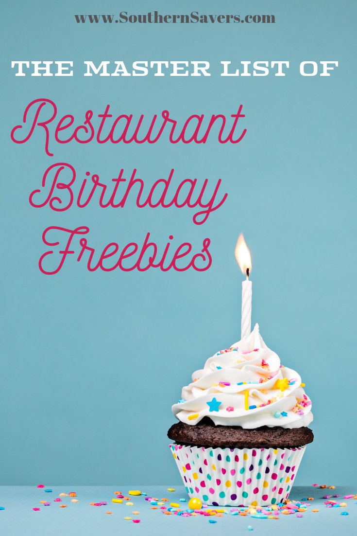Check out our master list of restaurant birthday freebies to see where you can get free entrees, drinks, and desserts to celebrate your special day!