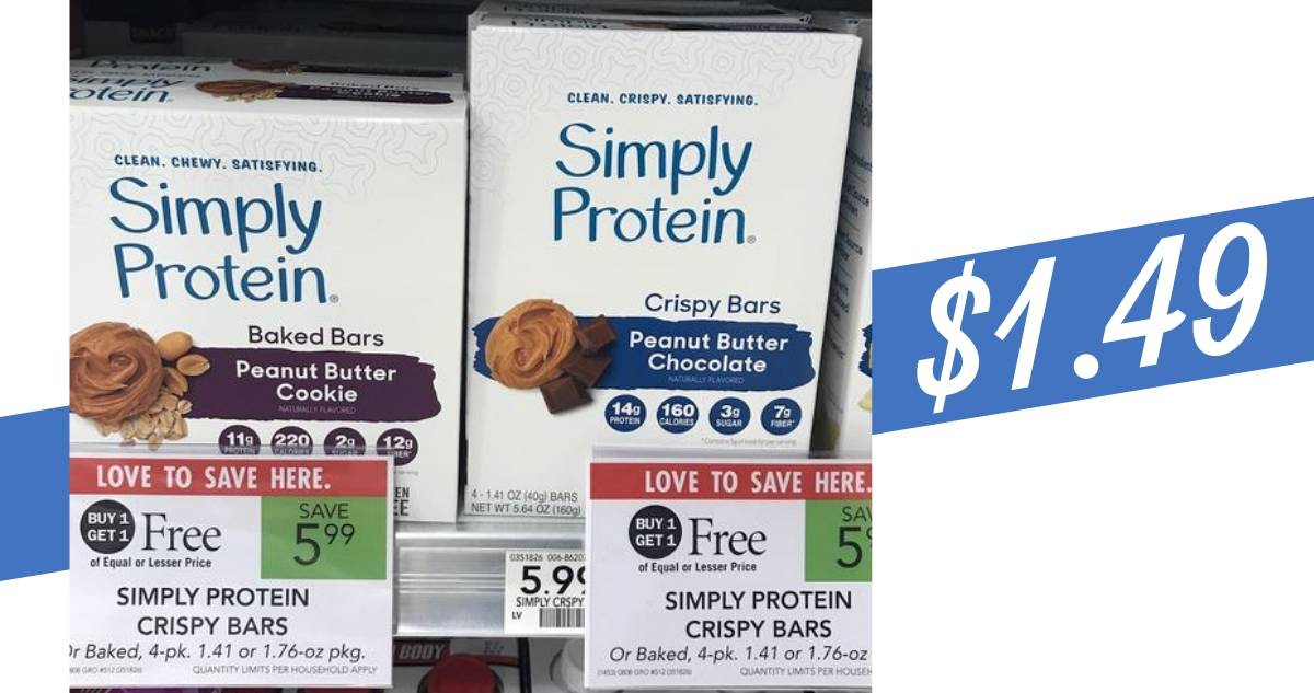 f0c76d725f1 Publix Deal | Simply Protein Bars, 4-Pack for $1.49 :: Southern Savers
