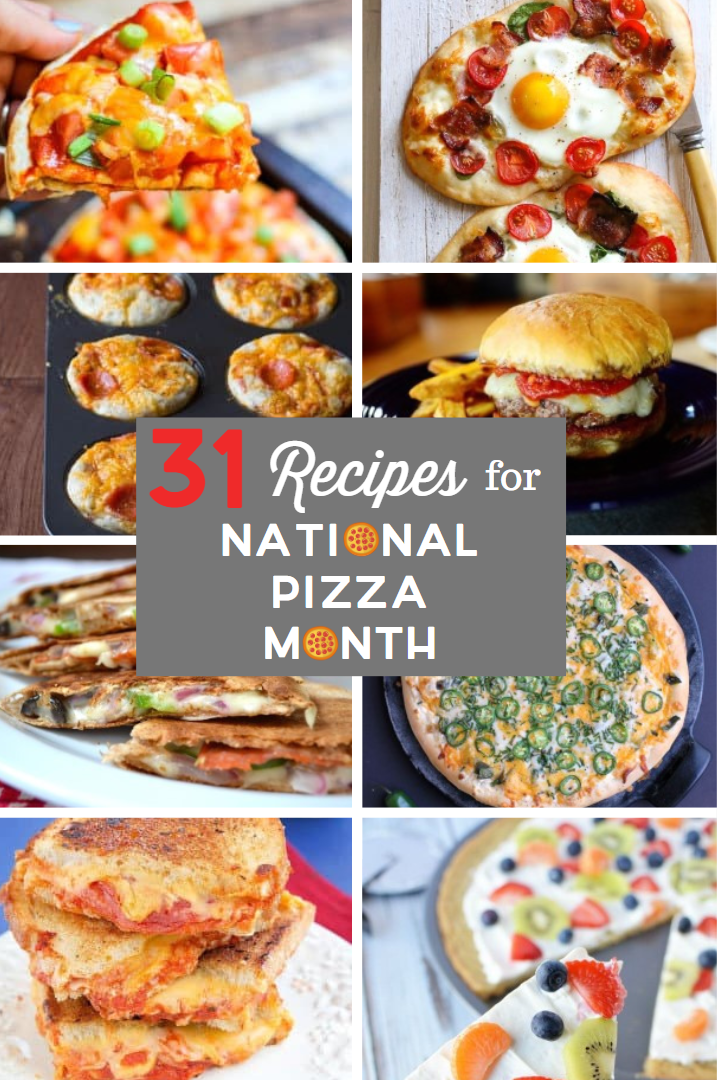 October is National Pizza Month, which is a holiday I can get behind! I've got 31 variations on pizza so you can celebrate every day this month!
