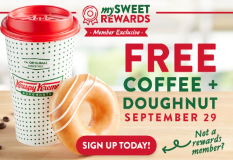 free coffee and doughnut