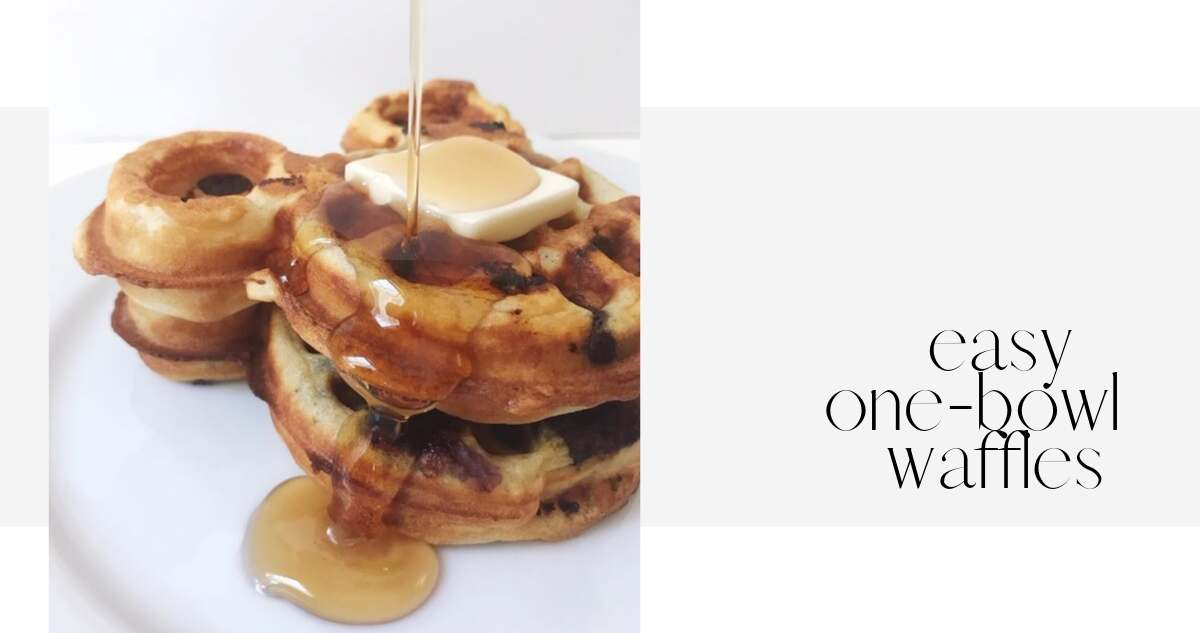 one-bowl waffles
