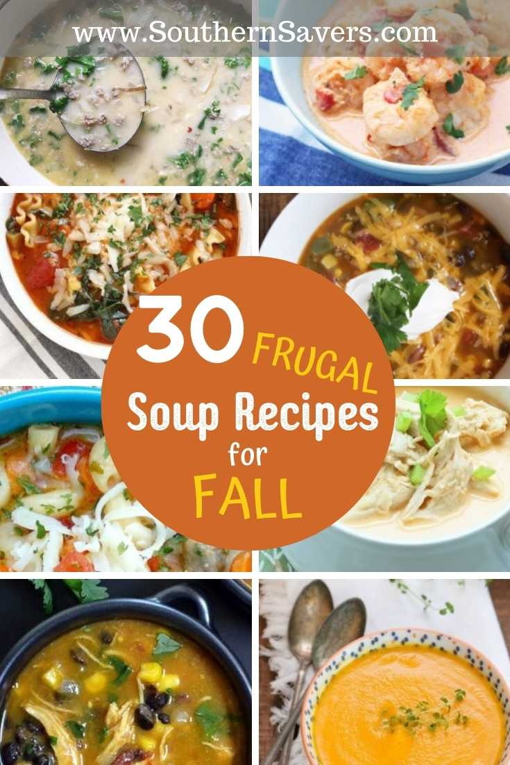 Cold weather is here, which means it's time to break out the sweaters and eat a bowl soup! Check out my favorite frugal soup recipes, just in time for fall!
