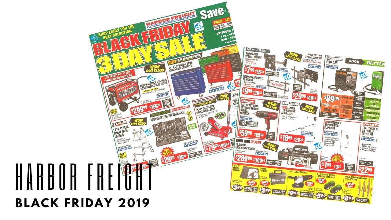 Harbor Freight Black Friday Ad 2019