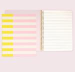 Kate Spade striped spiral notebook