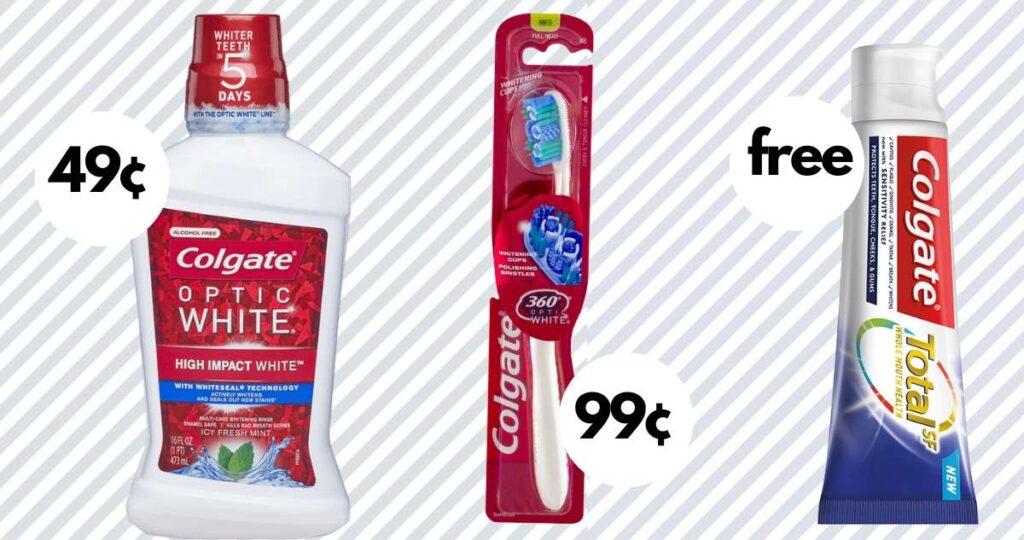 toothpaste, toothbrush, mouthwash