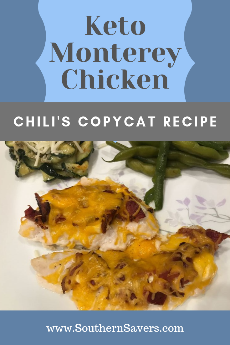 Indulge in a restaurant favorite at home! This keto Monterey Chicken is a copycat of a Chili's recipe and is just as good with only 2g carbs!