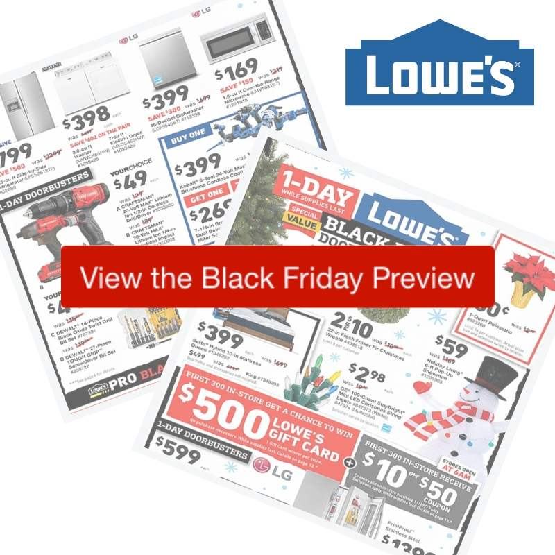 2019 Lowes Black Friday Ad