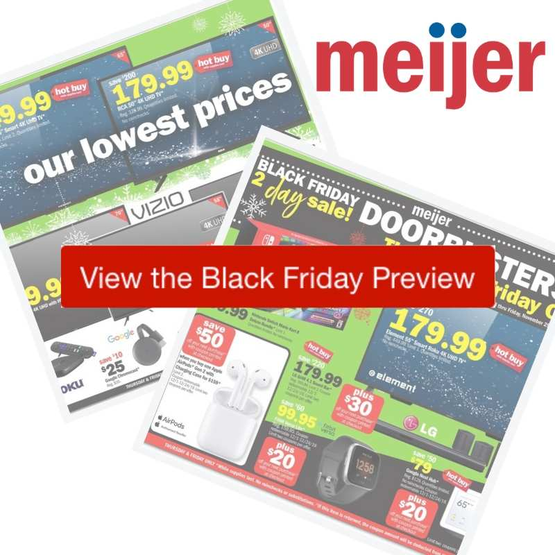 2019 Meijer Black Friday Ad Southern Savers