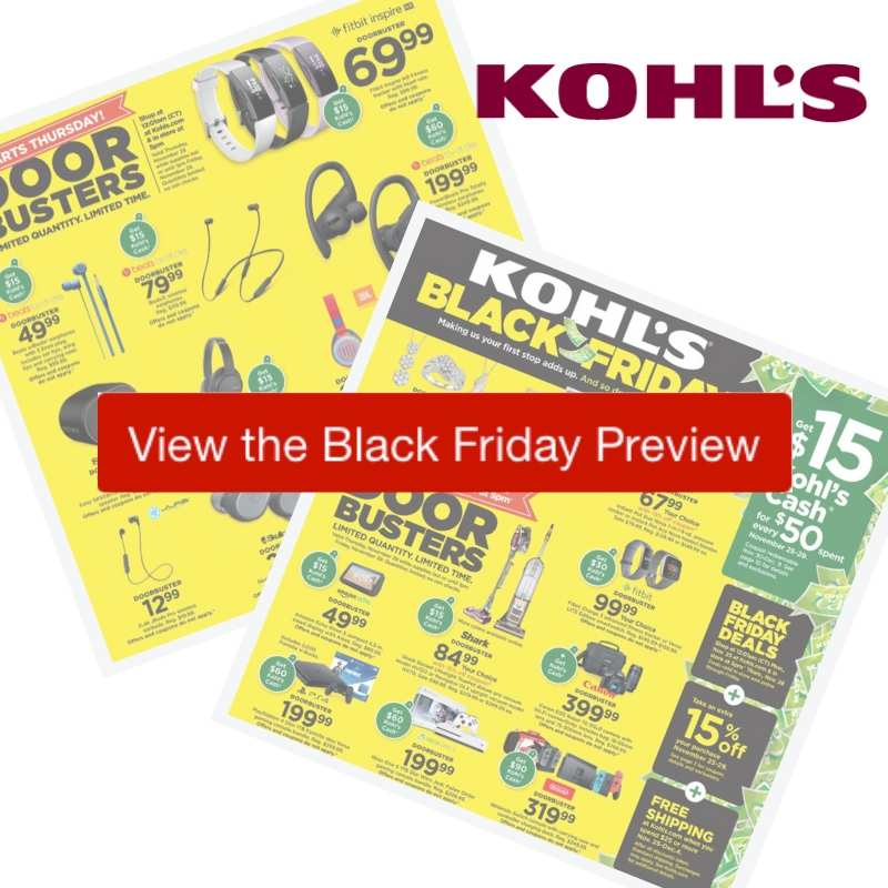 2019 Kohls Black Friday Ad Preview Southern Savers
