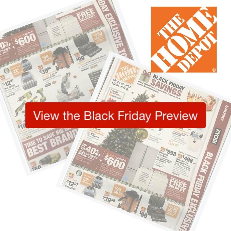 2019 Home Depot Black Friday Ad Southern Savers