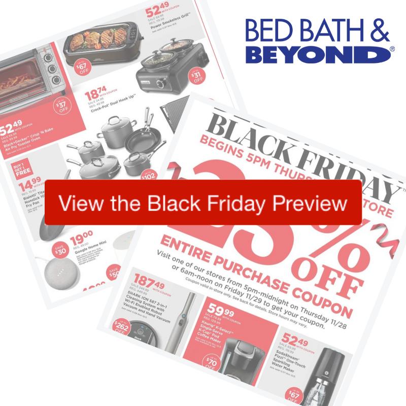 2019 Bed Bath Beyond Black Friday Ad Southern Savers