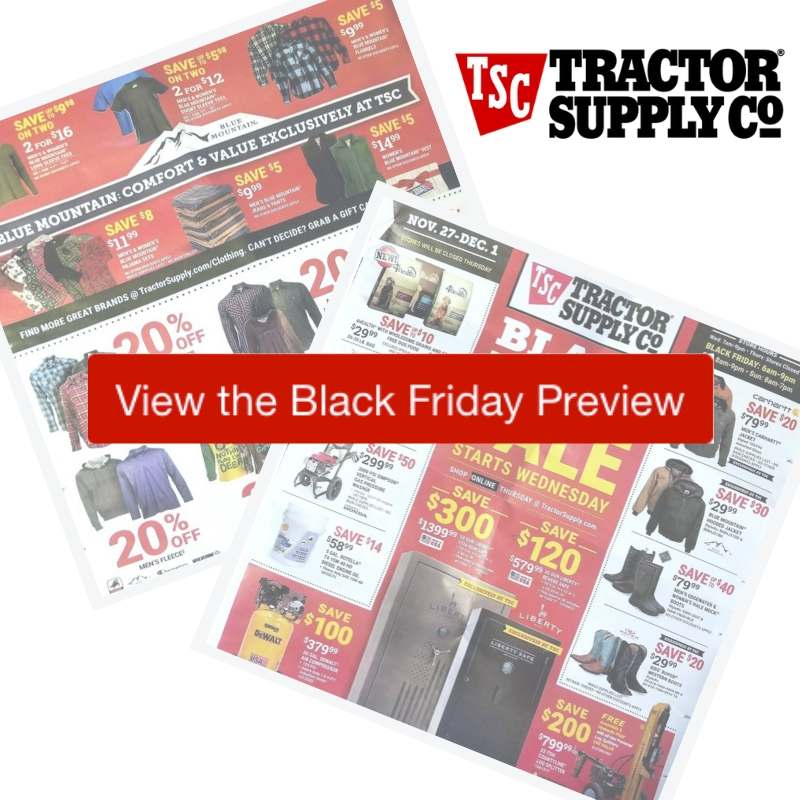 2019 Tractor Supply Black Friday Ad
