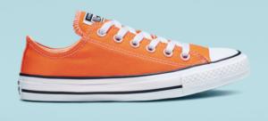 orange low top converse shoes