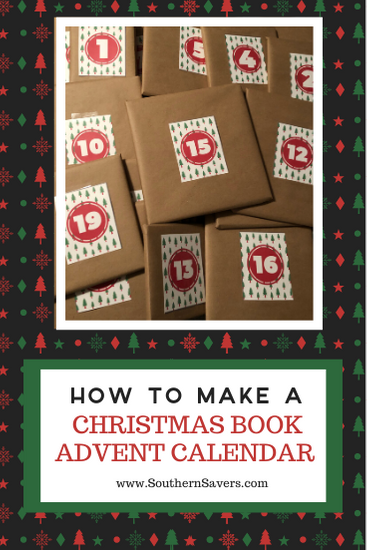 Countdown to Christmas with a new tradition! A Christmas Book Advent Calendar is a fun and inexpensive way to mark the days until Christmas.