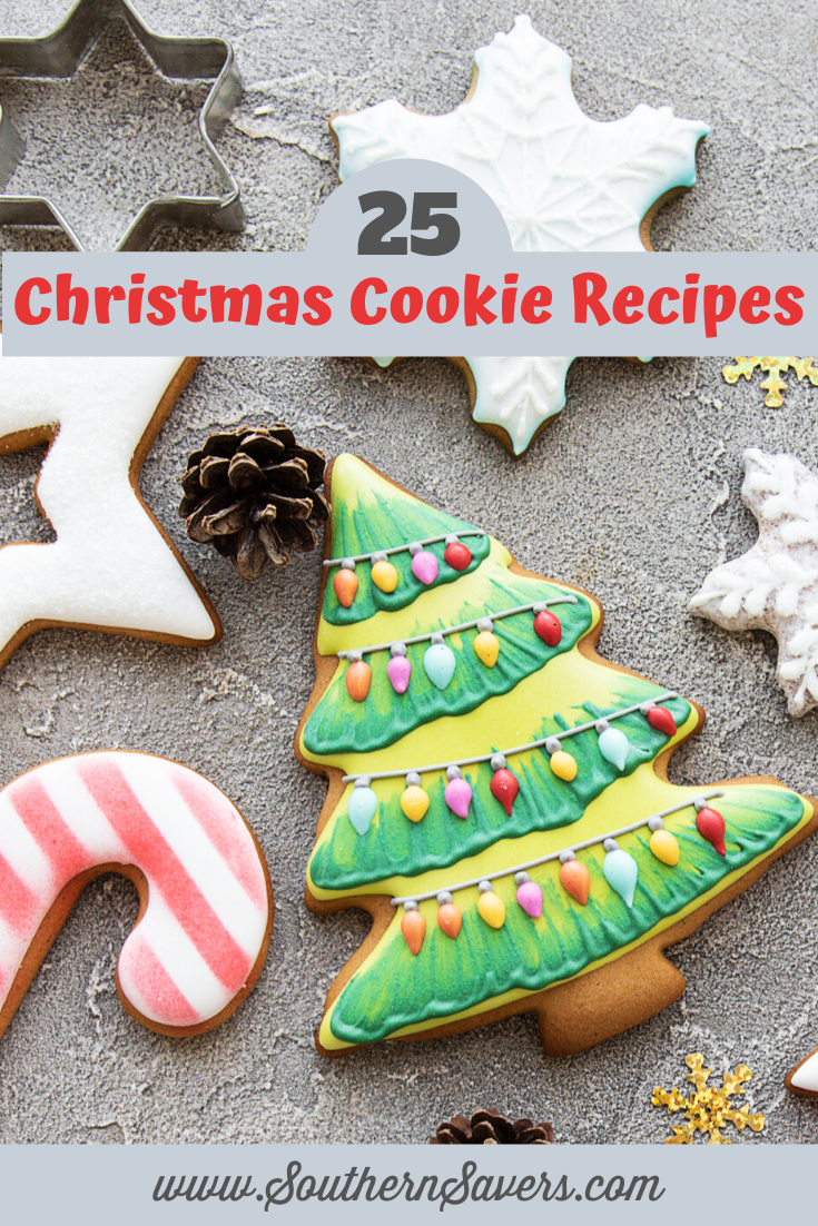 It's the time of year when many home cooks love to do some baking! Cookies are my favorite thing to bake at Christmas, so I'm sharing 25 of my favorite Christmas cookie recipes.