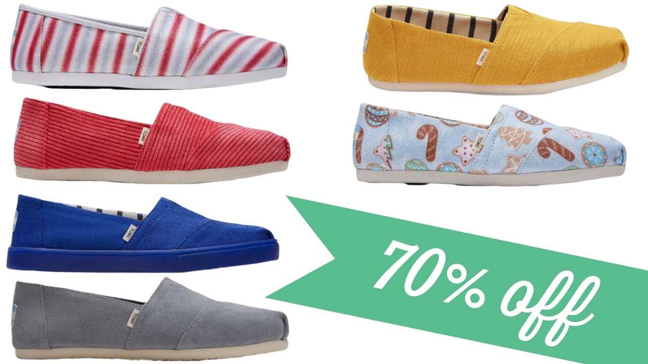 TOMS Sale \u003d Shoes for $19.99
