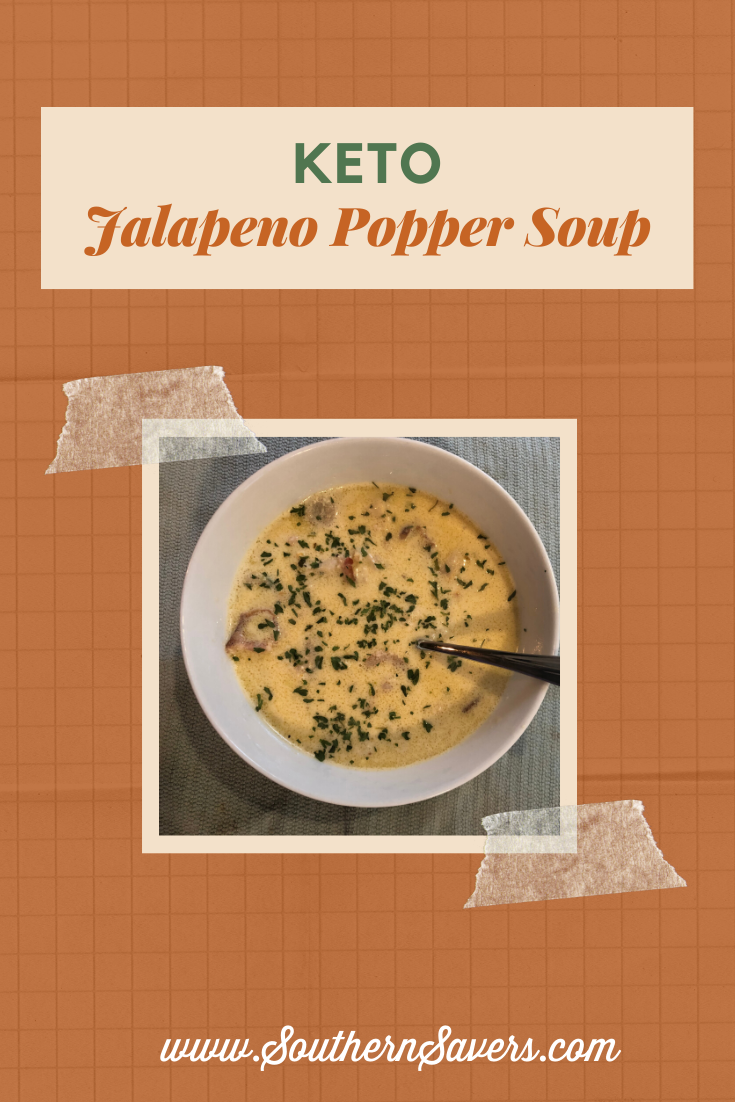 For cold winter days, a warm bowl of soup is the perfect meal. This keto jalapeno popper soup will fit your diet and fill your belly!