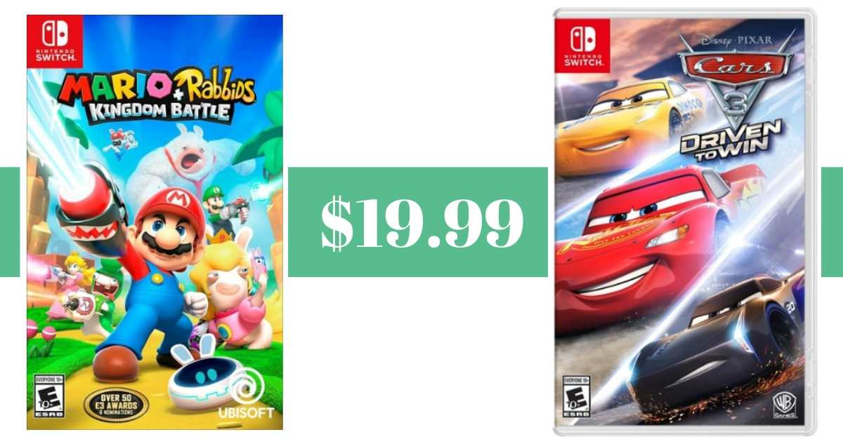 nintendo switch games $19.99