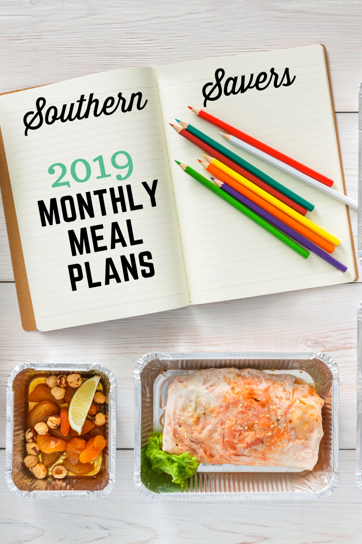 Find all my 2019 monthly meal plans all in one place with this landing page—hundreds of recipes combined into plans to make shopping and cooking easier!