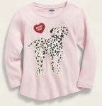 dalmation long sleeve tee for girls