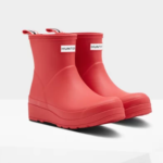 short pink women's hunter boots