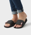 women's black slide sandals