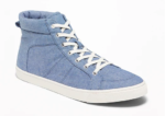 chambray high top shoes