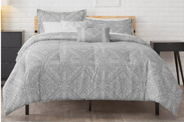 grey diamond comforter set